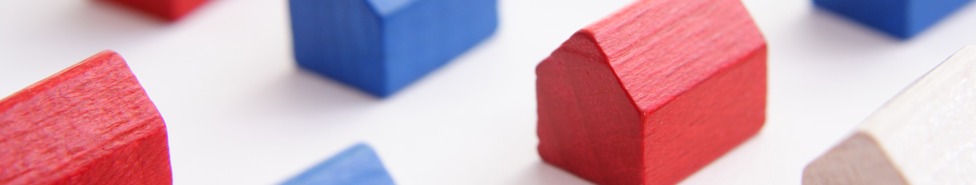 Red, White & Blue Monopoly Houses